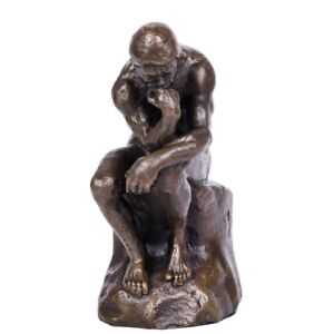 Toperkin TPE-185B The Thinker Sculpture by Rodin Famous Art Deco Bronze Statue