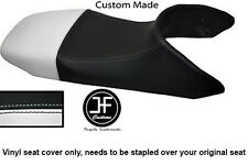 BLACK AND WHITE VINYL CUSTOM FITS HONDA TRANSALP XL 650 SEAT COVER ONLY