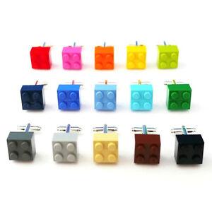 Lego Brick Cufflinks Silver Plated Wedding Birthday Dad