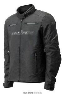 Blouson-Moto-Tissu-Noir-Toutes-saisons-S-Line-avec-doublure-amovible