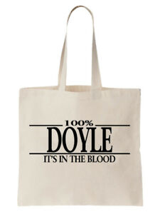 Doyle-Family-Name-Tote-Shoulder-Bag-Shopper-Surname-Gift-Gift-Tree-Cool