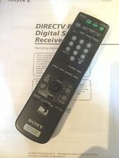 Sony Digital Satellite Receiver (SAT-A55/SAT-B55) Instruction Manual and Remote