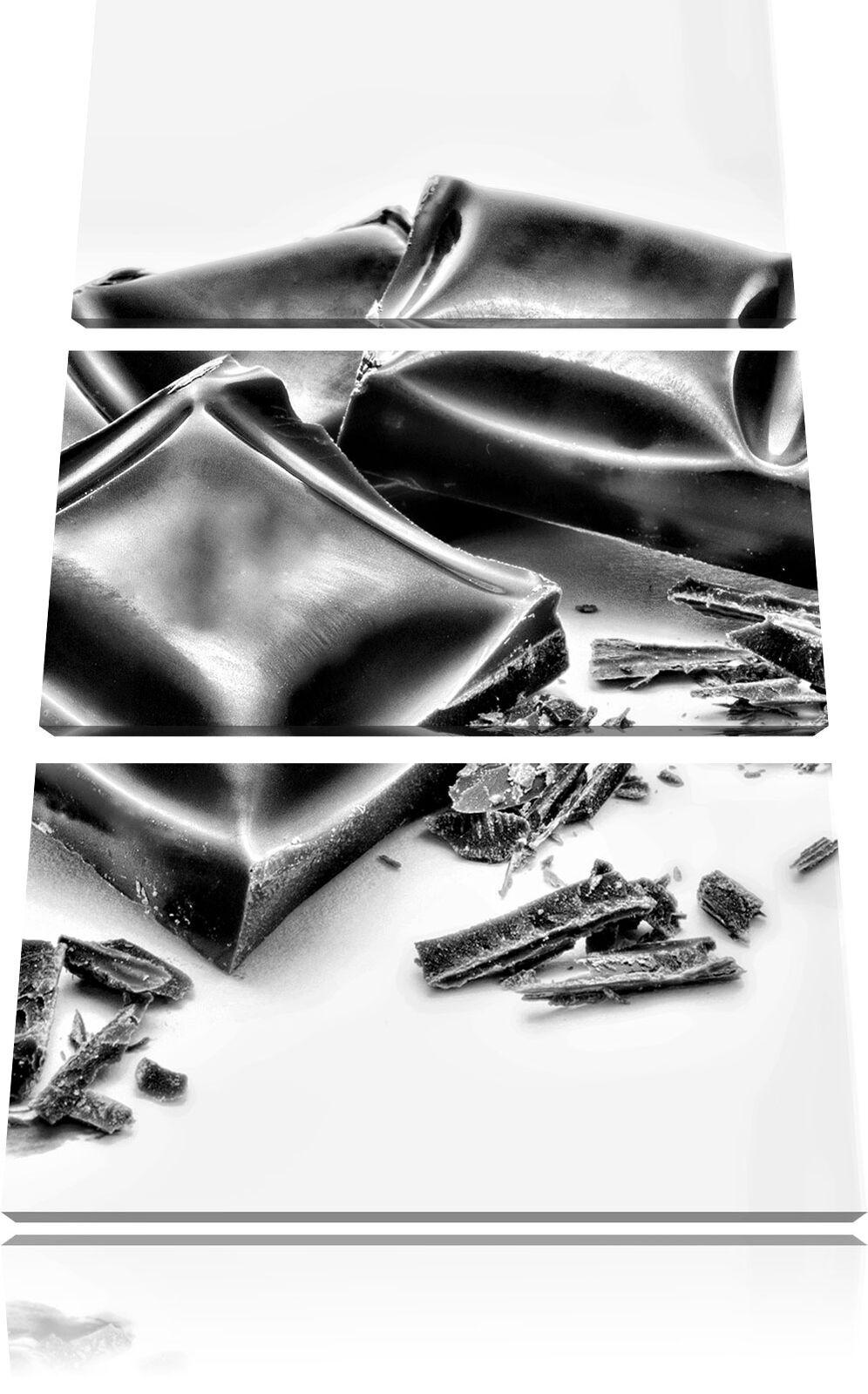 Cioccolata Tafeln 3-Teiler Quadro su Tel Decorazione Parete Stampa Artistica