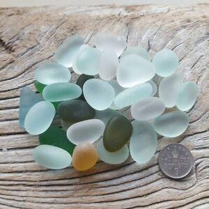 Beautiful-Mixed-Large-Seaglass-tumbled-100g-art-materials-Imogen-039-s-Beach