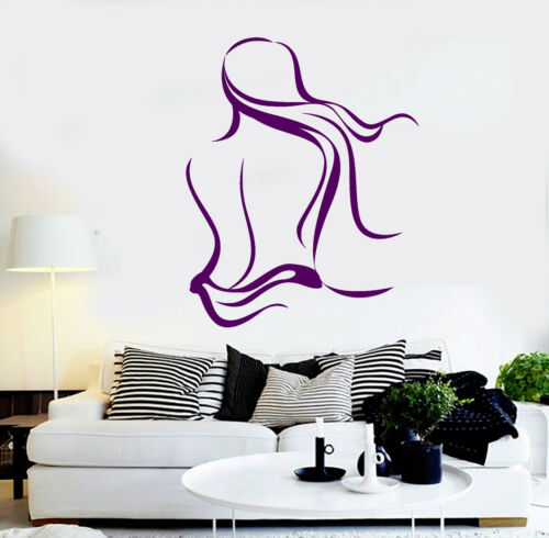 Vinyl Wall Decal Spa Salon Naked Woman Massage Relax Stickers ig4116
