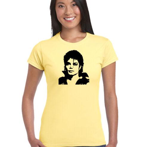 Damen T-Shirt Michael Jackson Büste
