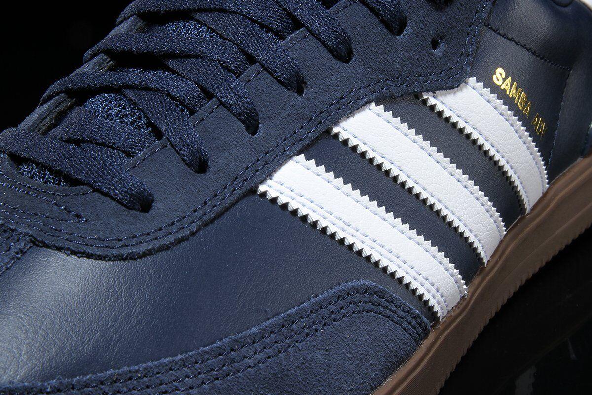 Adidas Samba  Mens 10    Navy bluee Leather   Suede NEW ADV Hamburg spezial trimm abded1