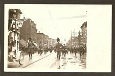 REAL-PHOTO POSTCARD:  PARADE ON STATE STREET, ERIE, PA - MARCHING BAND, Etc...