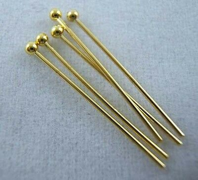 Gold Plated Pins Needles Jewelry Findings For DIY 7sizes U Pick B012b