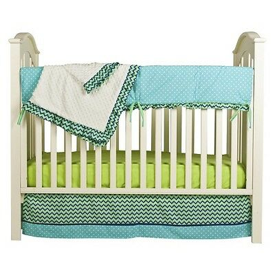 Pam Grace Creations 4pc Crib Bedding Set - Simply Zig Zag