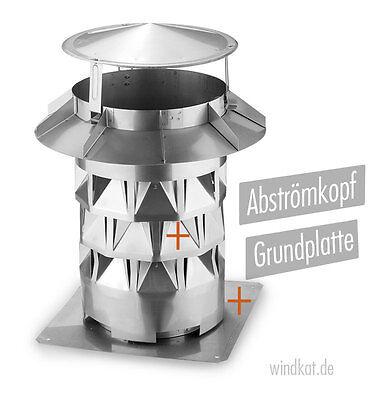 Analytisch Kaminaufsatz Windkat Mit Grundplatte Kamine Ø180 Mm Das Original Mit TÜv-zertifikat-