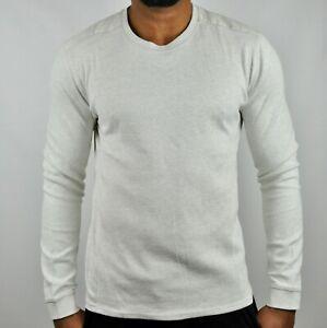 Calvin-Klein-Premium-CK-Solid-Crew-Neck-Sweatshirt-Jumper-Grey