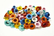 100pcs Mixed Colors Flower EYELETS Scrapbooking CARD Hole LeatherCraft E100