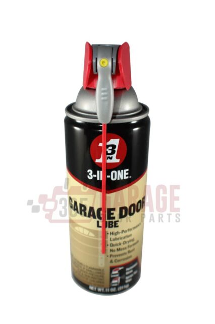 11 Oz Garage Door Lube Profressionsl Lubricant Spray 3 In 1 With