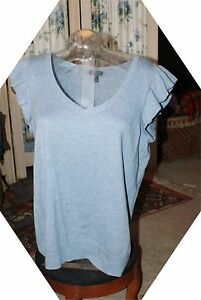 Sweater Small Designer 2 Størrelse Sky Set Blue Talbots PC Ruffled nF4Bqwv