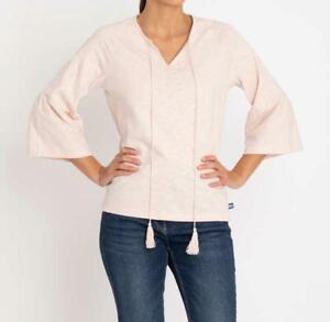 """T92 Designer Flammgarn-Shirt mit Volantärmel """"rosa"""" Gr. 46"""