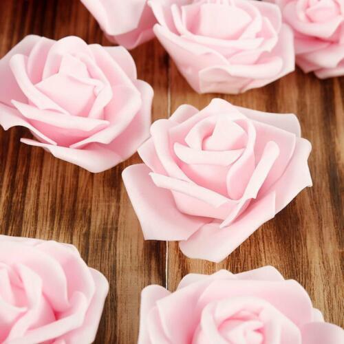 Künstlicher Blumenschaum Rose Fake Flowers Heads Hochzeitsstrauß Valentines E8O5