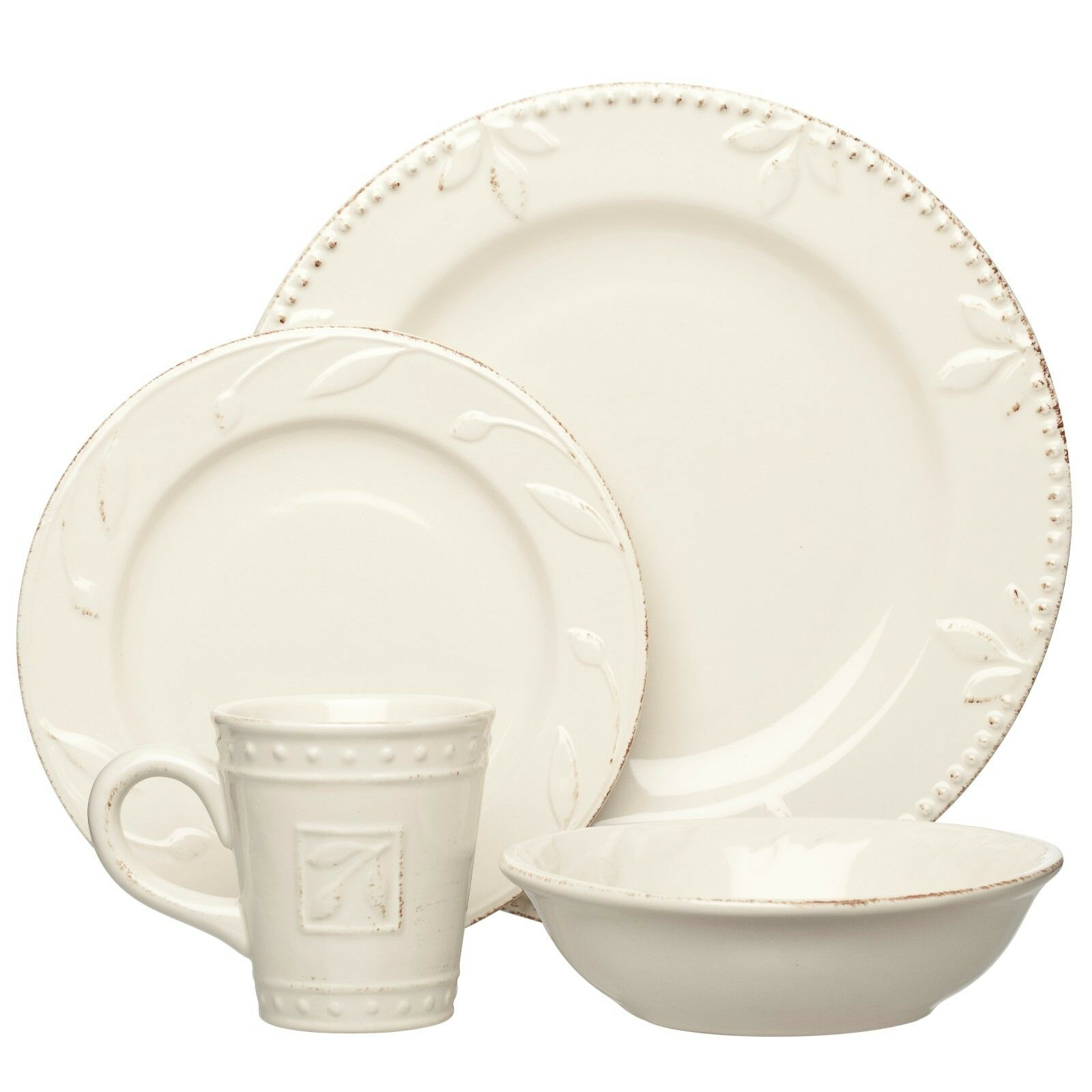 Lot de 2 Sorrento Ivoire 4 pièces Place Setting par Signature Housewares