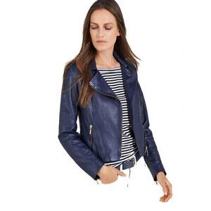 5fca8304c313f Image is loading Women-Genuine-Lambskin-Leather-Biker-Jacket-Stylish-Slim-
