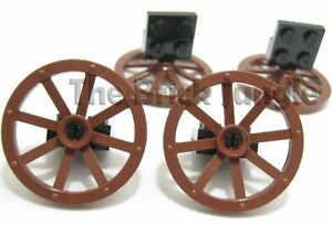LEGO-parts-Wagon-wheels-suit-city-castle-train-sets