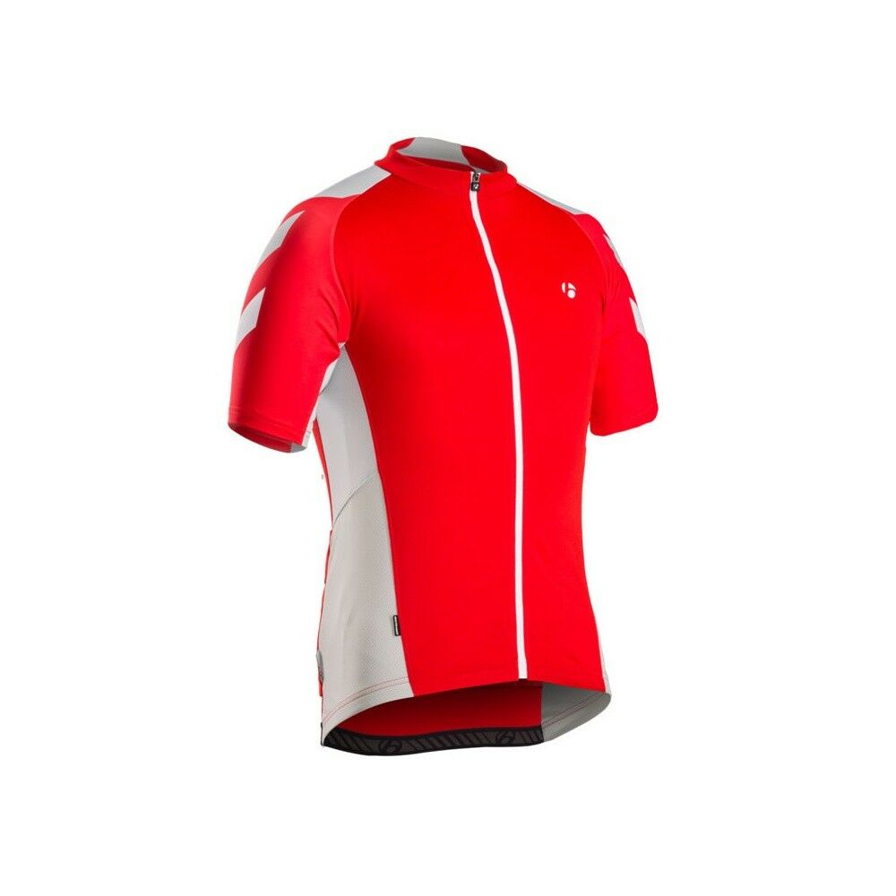 MAGLIA CICLISMO BONTRAGER SLEEVE JERSEY MAILLOT color red-grey