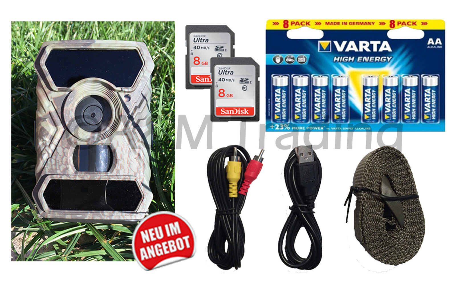 X-view Starterpaket Wildkamera I Fotofalle I 12MP-Full HD HD HD I 56x 940nm schwarz LED 1079ee