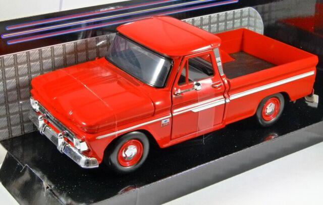 1ca5c8d1b28f8 1966 CHEVROLET C10 FLEETSIDE PICKUP in Red - 1 24 scale model by MotorMax