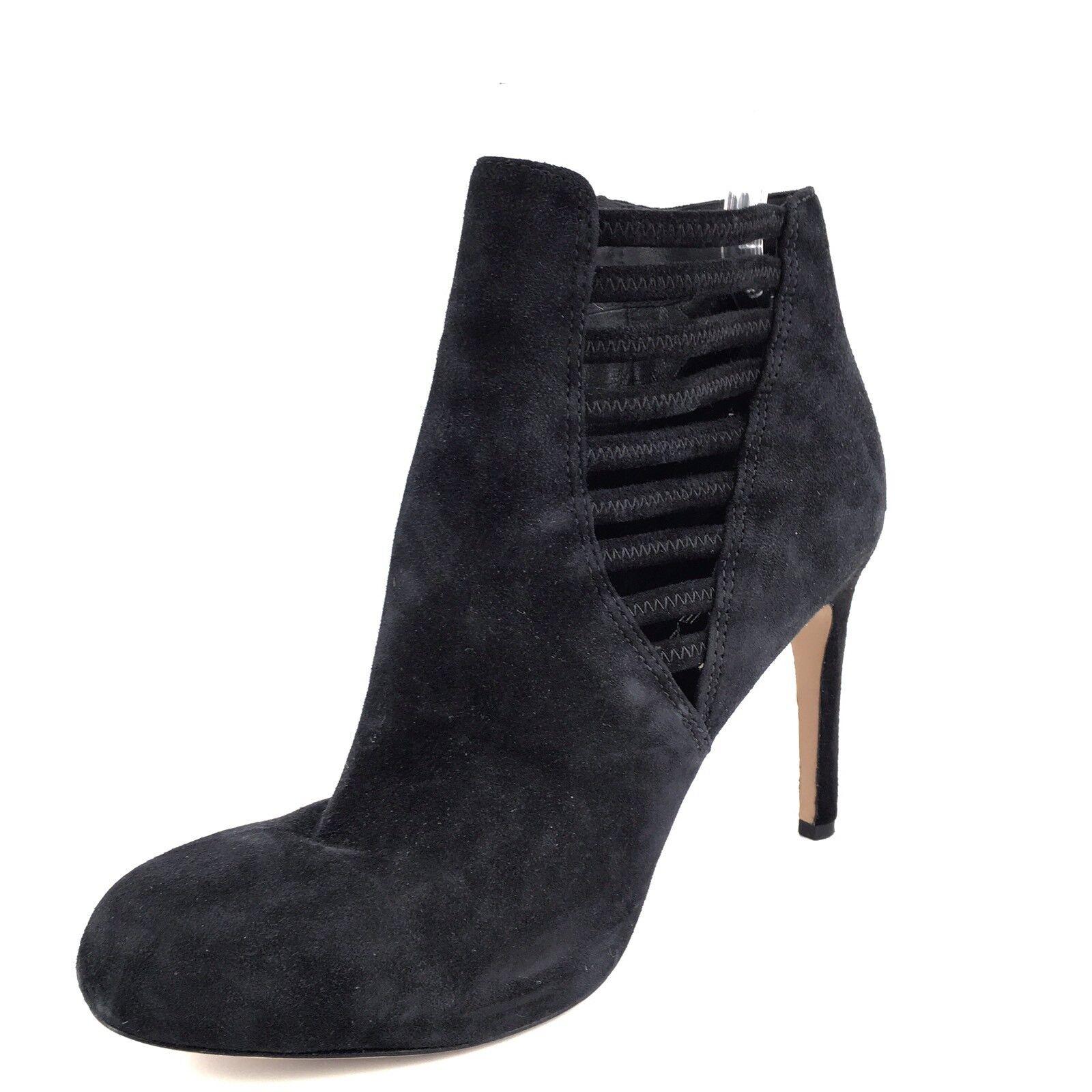 Via Spiga Peak Black Suede Elastic Fashion Ankle Bootie Women's Size 8 M