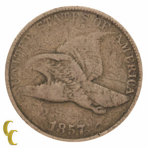 1857 Flying Eagle Cent 1C Penny (Very Good, VG Condition)