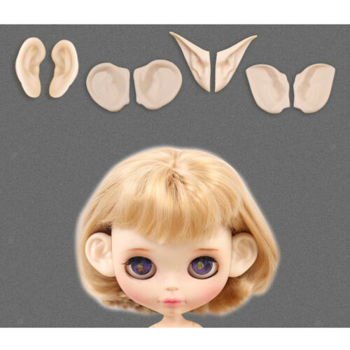 2 Pieces Resin Doll Ears Paste Set for 12inch Blythe Doll Normal Ear