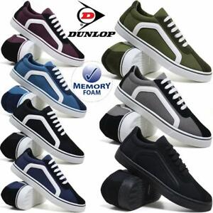 Mens-Dunlop-Canvas-Shoes-Casual-Boat-Deck-Plimsolls-Pumps-Retro-Skates-Trainers