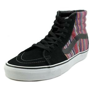 f821b6eb2aa0 VANS Mens 10.5 Sk8 Hi Tops Skate Shoes Guate Weave Black Multi Canvas  SNEAKERS