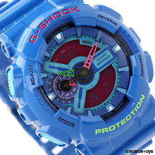 CASIO G-SHOCK Hyper Colors Blue Watch GA-110HC-2A GA110HC-2A