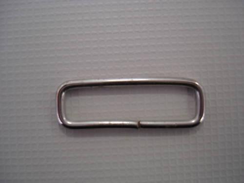 Schlaufe Metall 10 Ovalringe Gurtband 25 mm Stahl