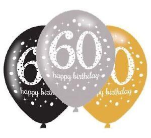 6pk-Gold-Celebration-60th-Latex-Balloons-11-034-Birthday-Party-Decorations