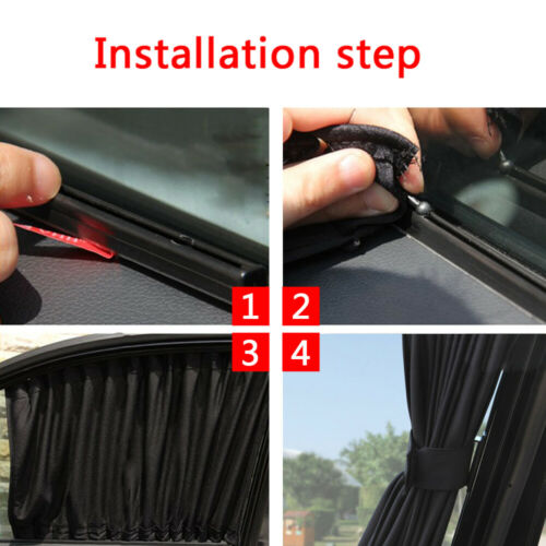 Details about  /2* Car UV Protection Sun Shade Curtains Sides Window Visor Mesh Cover Shield