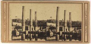 Italia Tempio Da Sérapis Pozzuoli c1865 Foto Sommer Stereo Vintage Albumina