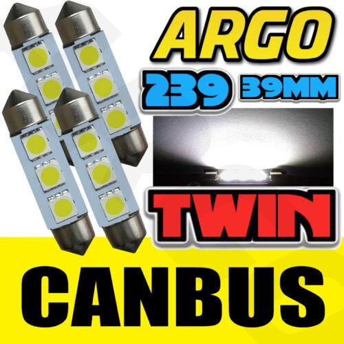 4PC HIGH POWER SUPER WHITE 239 NUMBER LICENCE PLATE LIGHT BULBS ERROR FREE LED