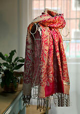 Ladies Winter Warm Cashmere Pashmina Check Neck Long Shawl Scarf Wrap Stole