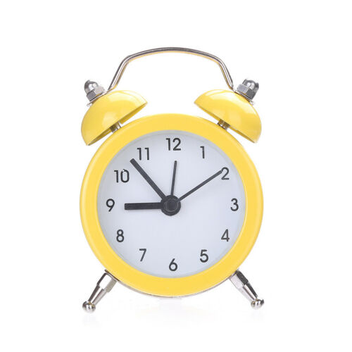 EG/_ Retro Classic Double Bell Mechanical Keywound Alarm Clock for Home Office Ex