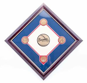 NEW-MLB-Atlanta-Braves-Collectible-Infield-Dirt-Plaque-FREE-SHIPPING