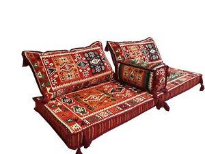 Details about Turkish Kilim Corner Set Sofa Cushion pillows Ottoman Lounge  Couch 4 pieces urfa