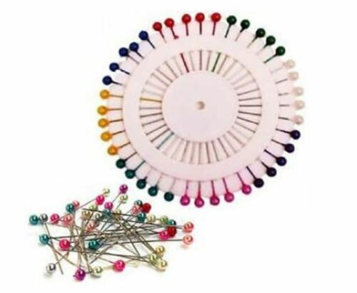 200X Pearlised Straight Pins Upholstery Dressmaking Sewing Hijab Scarf Crafts Uk