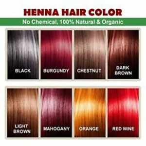 Image Is Loading Henna Hair Color 1pack 60g 100 Organic Chemical