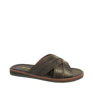 Mens-Woodlands-9002-Sandals-Slip-On-BROWN-Comfortable-Lightweight-Casual-Shoes