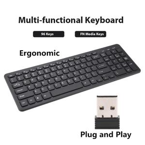 96-Keys-Slim-Silent-Wireless-Ergonomic-Keyboard-USB-Receiver-For-Laptop-Desktop