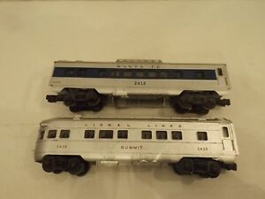 2 O Lionel Passenger Cars 2436 And 2412 Ebay