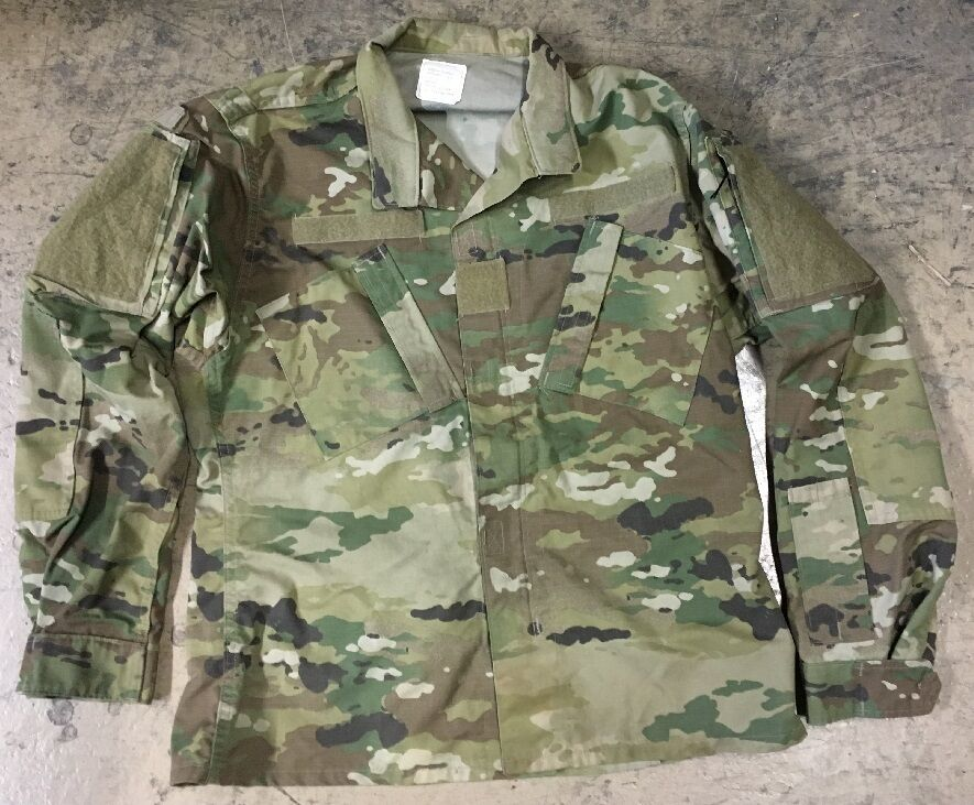 US Army OCP ACU SCORPION w2 Combat MILITARY MIMETICO GIACCA SHIRT SHORT MEDIUM