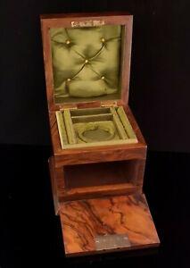 Antique-Victorian-walnut-jewellery-box-fall-front
