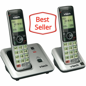 CS6619-2 Vtech Cordless Phone with Accessory Handset /& Backlit LCD Display